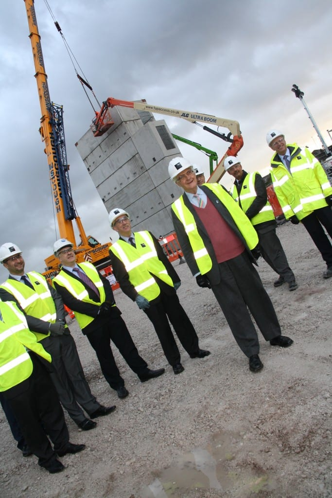 On the construction site at UTC Warrington