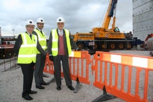 Cllr Terry O'Neill, Principal and Chief Executive Lee Barber and Lord Baker