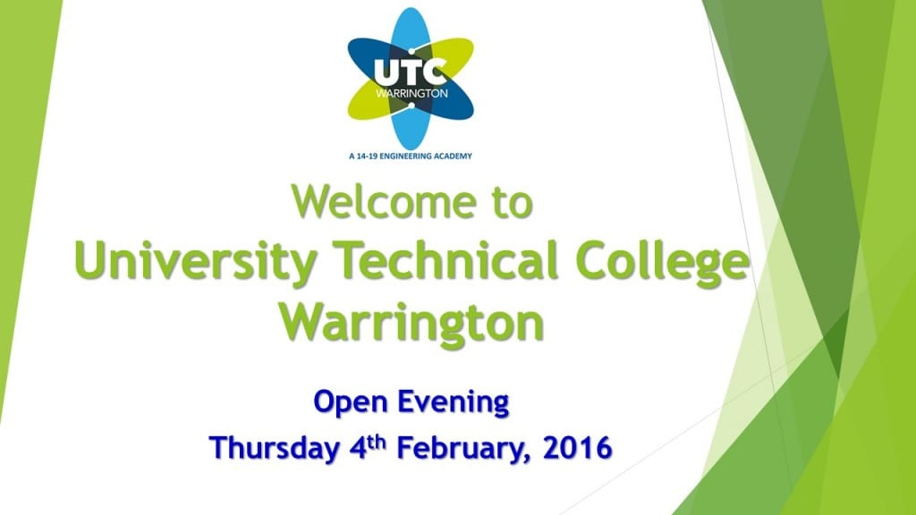 Open Evening Presentation - 4th February 2016